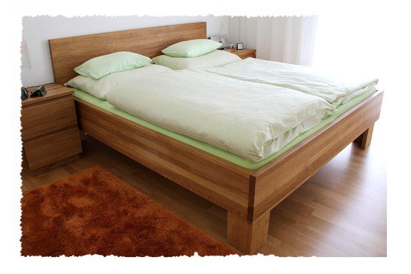 moebel/Schlafzimmer/Bett Eiche massiv, geölt